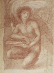 Edward Burne Jones, Seraph, c.1865  (WD54)