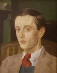 Ivor Williams, Portrait of a young man wearing a red tie, date uncertain (OP146)