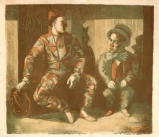 John Roberts, Clown and Dwarf, 1948 (PR2749)
