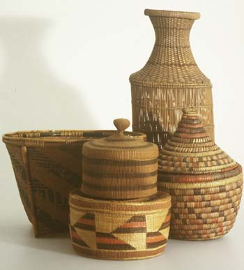 Selection of baskets from the collection.