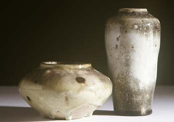 Two stoneware vesssels by William Staite Murray