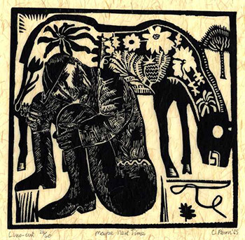 Maybe Next Time, linocut, 1965