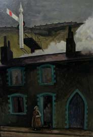 George Chapman (1908–1993), Welsh Gossip, oil on board, 1958