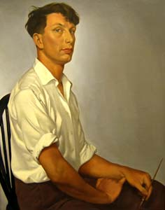 Self Portrait, oil on canvas, 1954, (Newport Museum and Art Gallery)