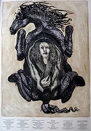Sheila Pitt, Ordinary Birth, woodcut and etching