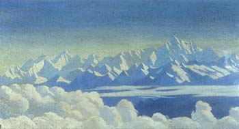T. Howard Somervell, Kangchenjunga from Darjeeling, 1932<br> (Alpine Club Collection)