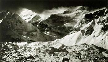 Uli Wieland, Kangchenjunga NW Face from Base Camp, 1930<br> (Alpine Club Collection)