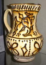 Staffordshire Earthenware Jug, 17th century.